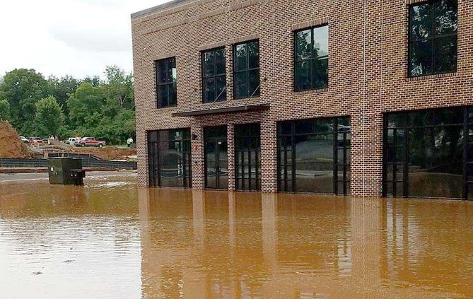 1WEB building flooded