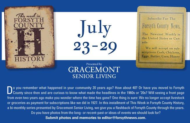 History July 23-29
