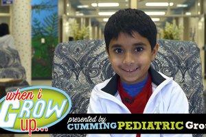 When I Grow Up: Zayd Laiwalla 3rd grader @ Johns Creek Elementary