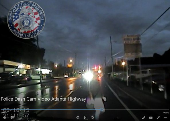 dash cam video released of woman hit by gainesville police. Black Bedroom Furniture Sets. Home Design Ideas